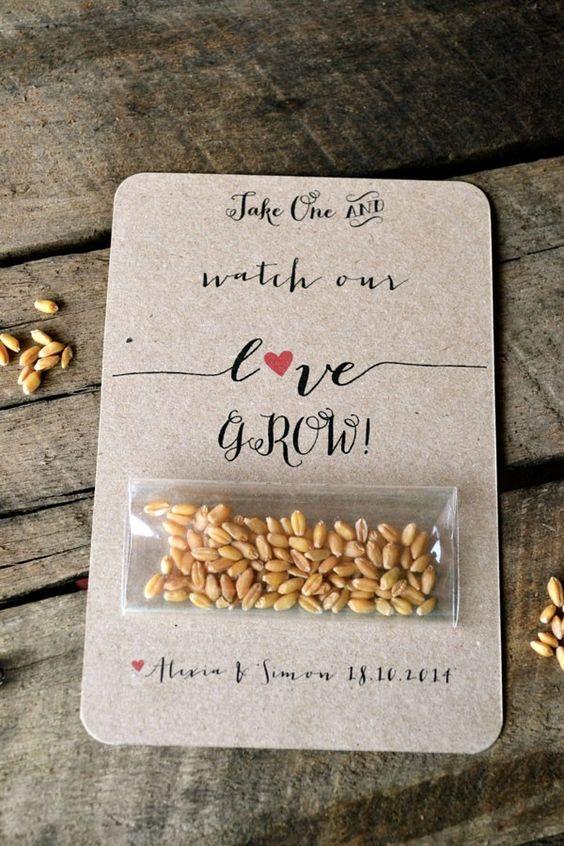 """alternativa la lancio del riso: i semi, in apposite scatolette decorate che non verranno letteralmente """"buttati al vento"""""""