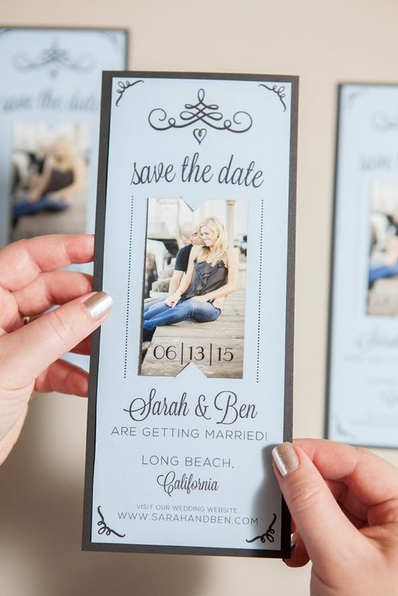 Save the date con foto degli sposi