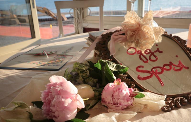 composizioni floreali matrimonio per il ristorante