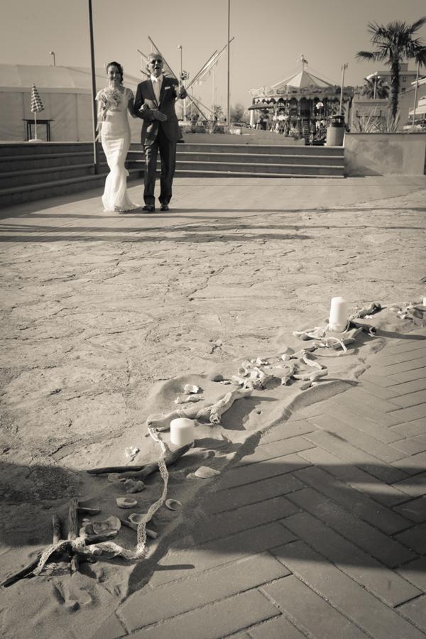 fiori e allestimenti matrimonio sul mare