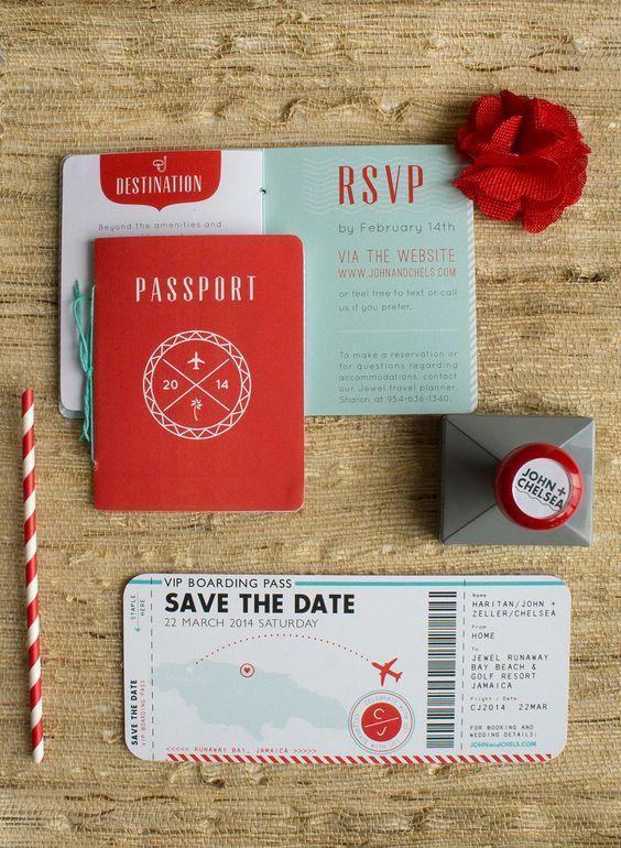 partecipazione di nozze a passaporto