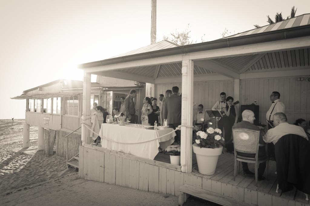 ricevimento di matrimonio sulla spiaggia