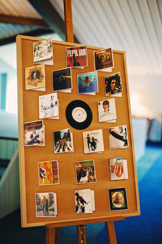 tableau mariage con i dischi