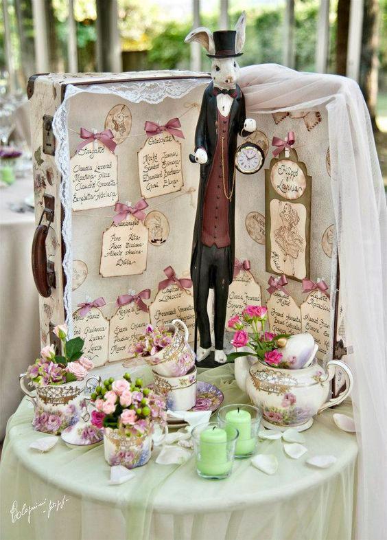 tableau mariage originale low cost con valigia