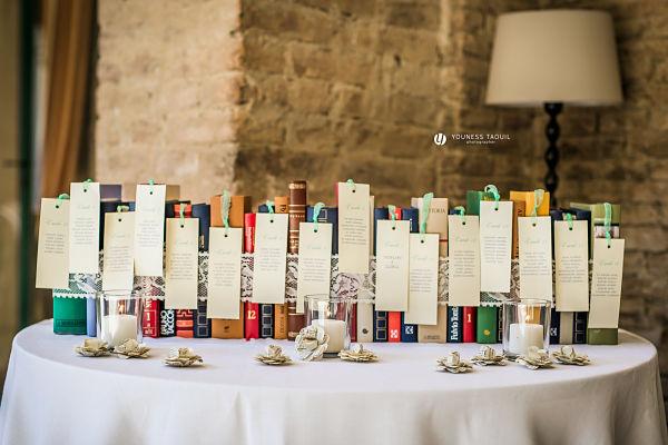 tableau de mariage con i libri