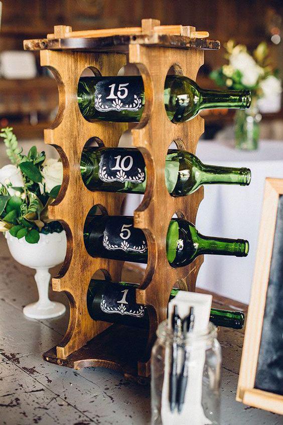 tableau mariage originale tema vino