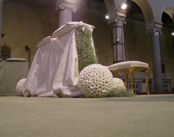 composizioni floreali matrimonio per la chiesa