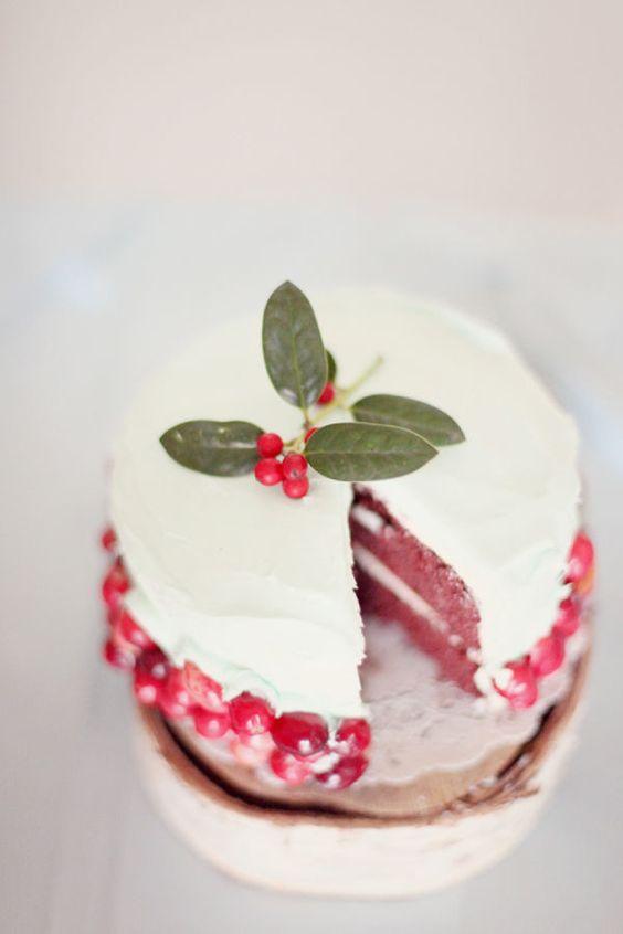 torta nuziale naked matrimonio in inverno