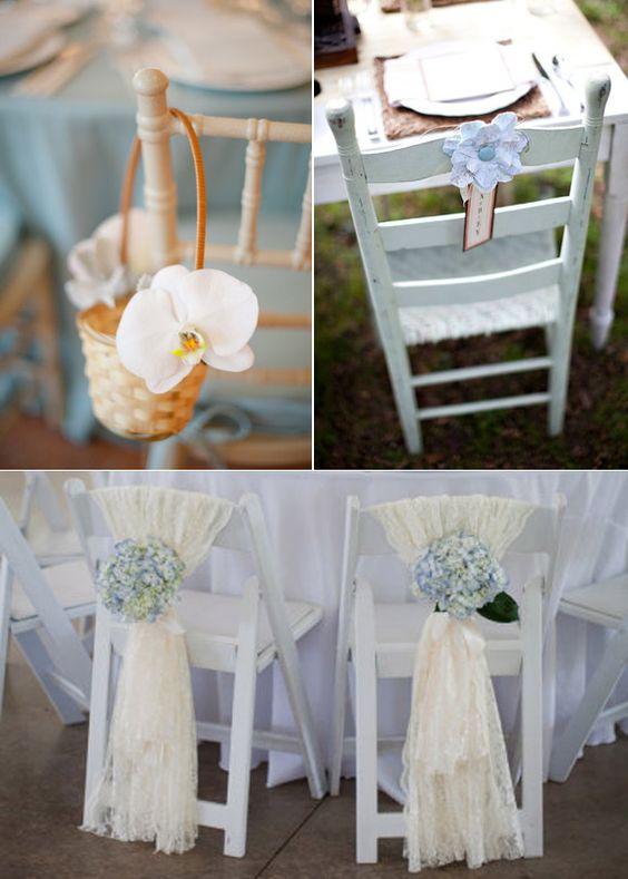 decorazione sedie matrimonio con fiori