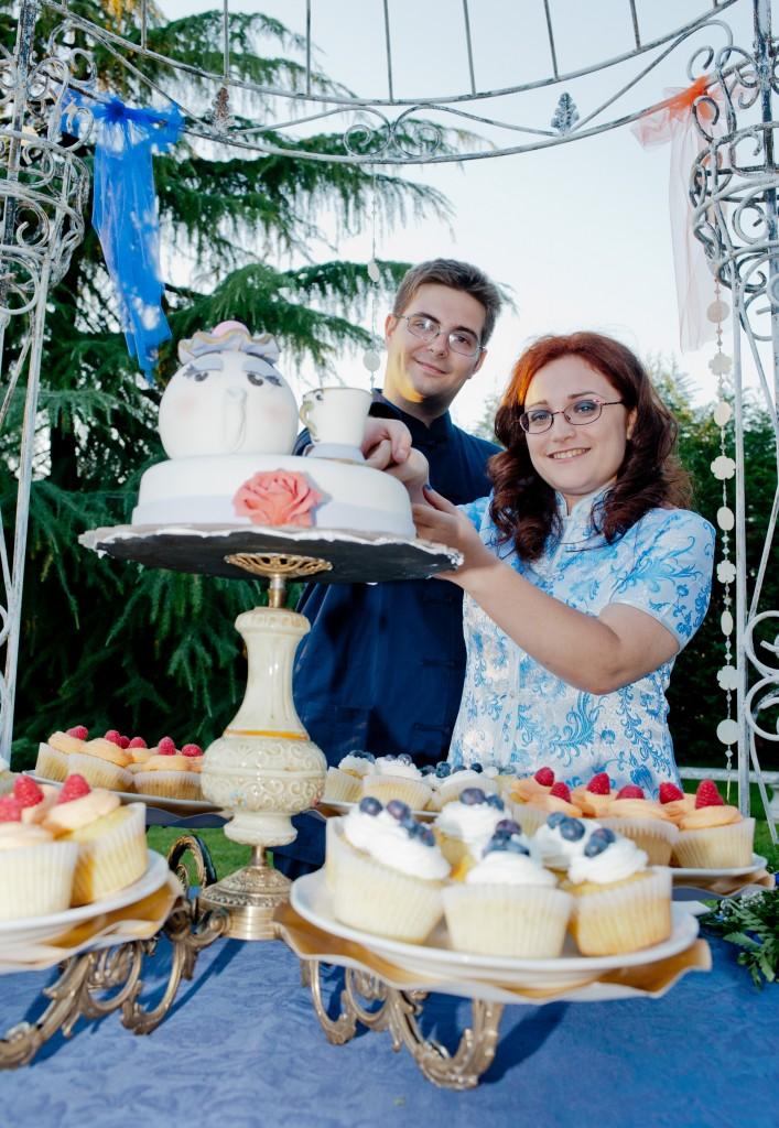 table cake per nozze a tema Disney