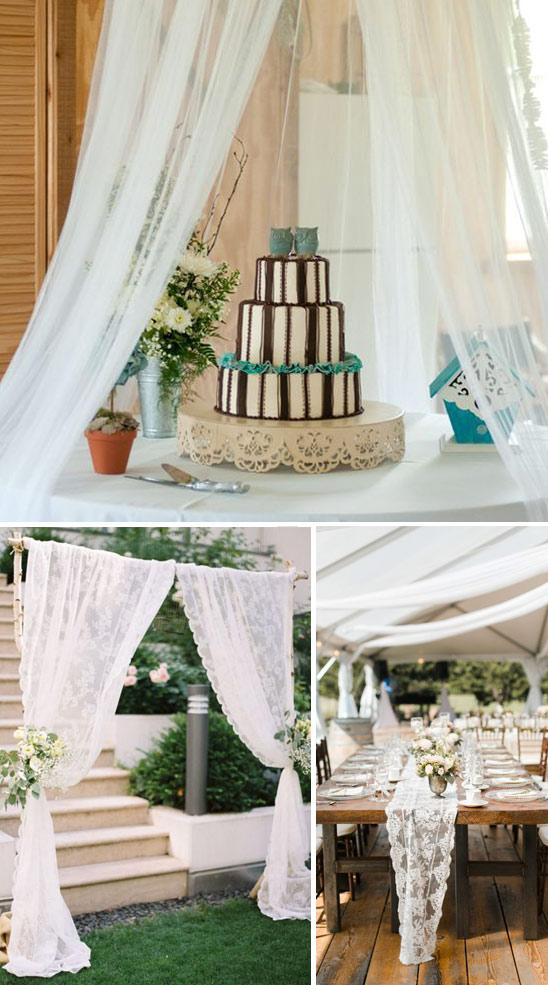 idee creative per il matrimonio con le tende Ikea