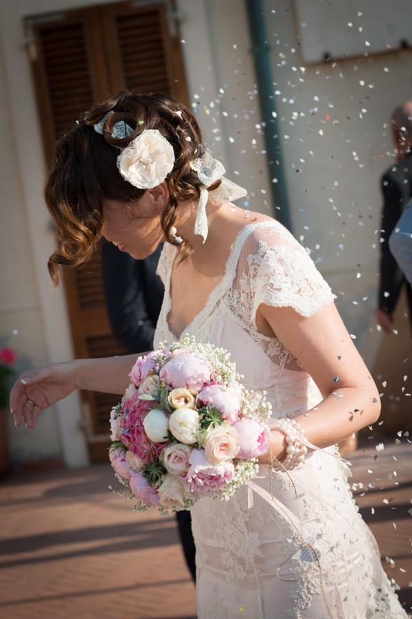 fiori abito sposa