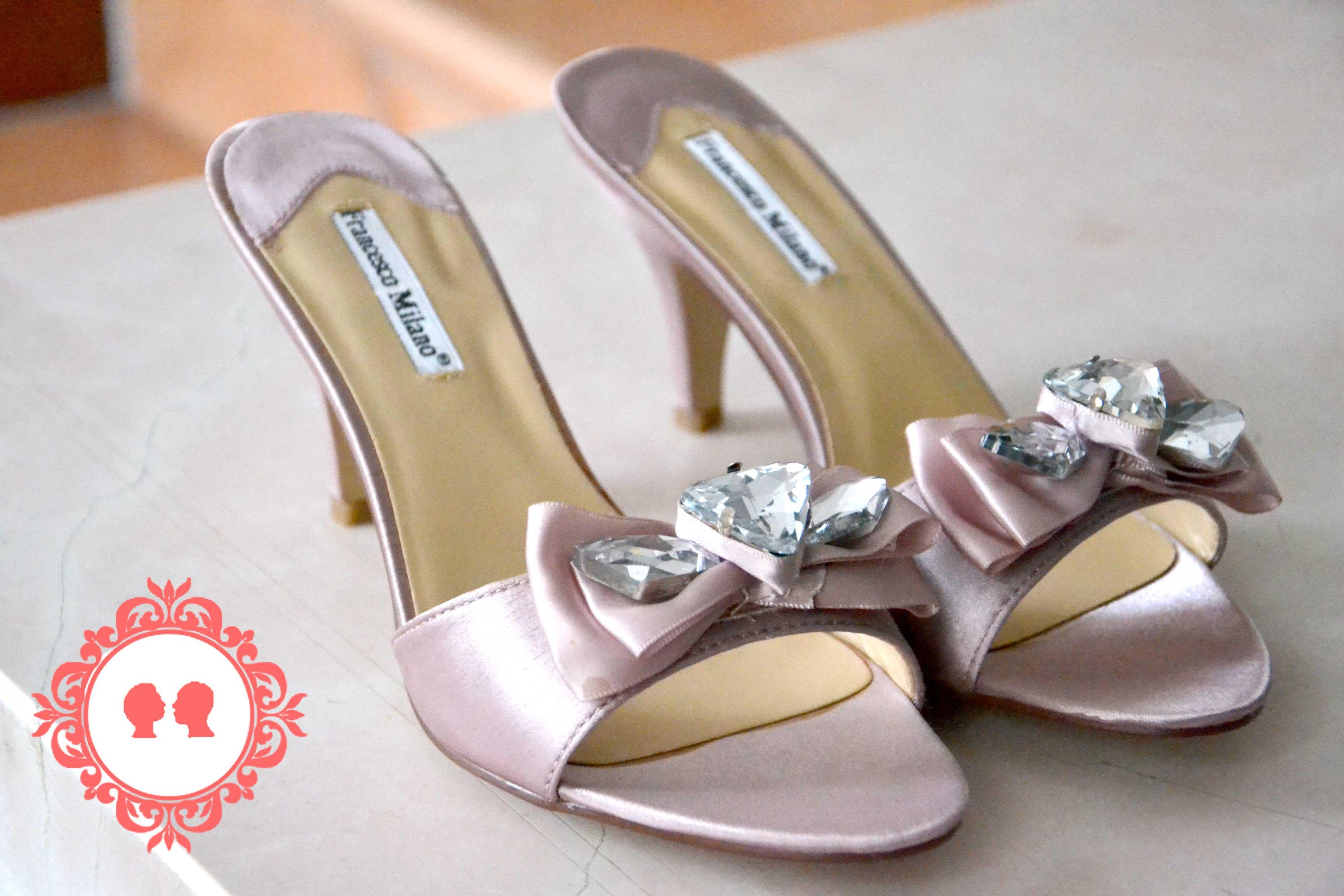 scarpe da sposa low cost comode rosa