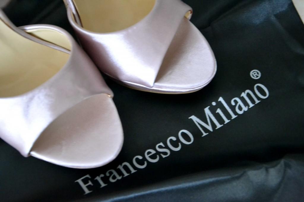 scarpe da sposa low cost rosa con plateau francesco milano