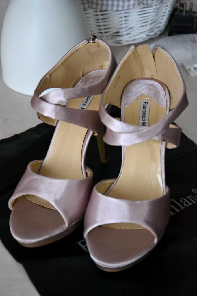 scarpe da sposa low cost rosa francesco milano