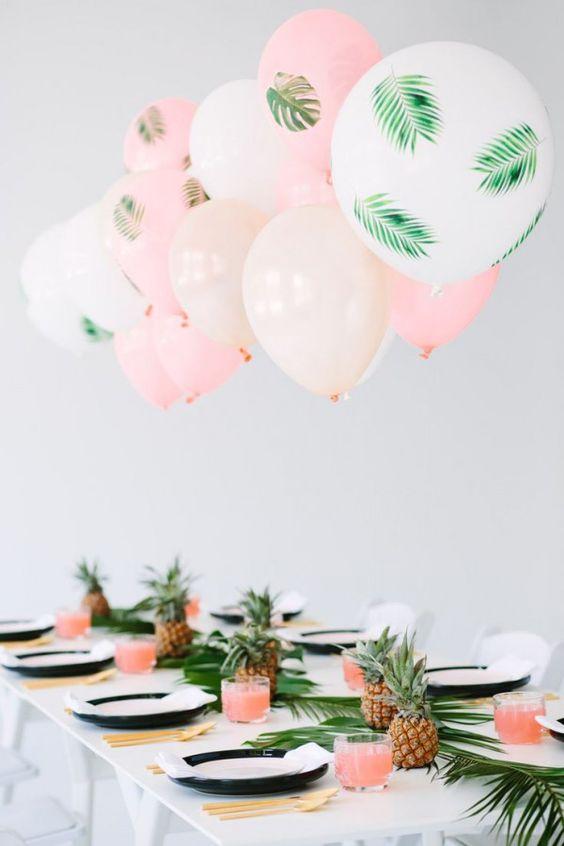 fiori matrimonio alternative: palloncini, frutta e foglie