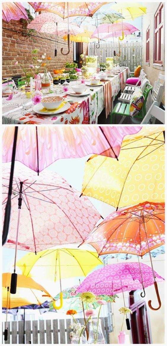 alternative agli allestimenti con i fiori: gli ombrelli