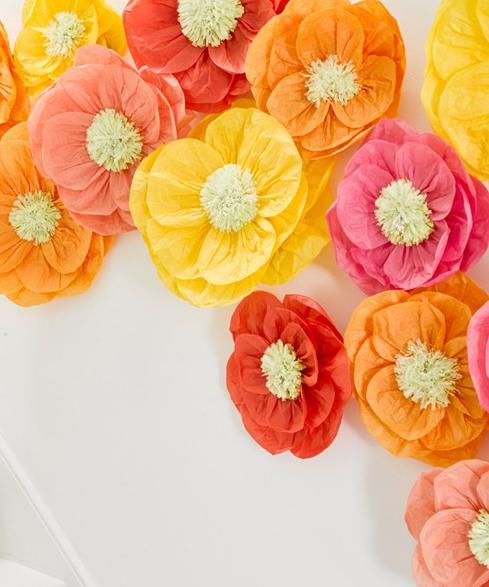 allestimento matrimonio fiori di carta