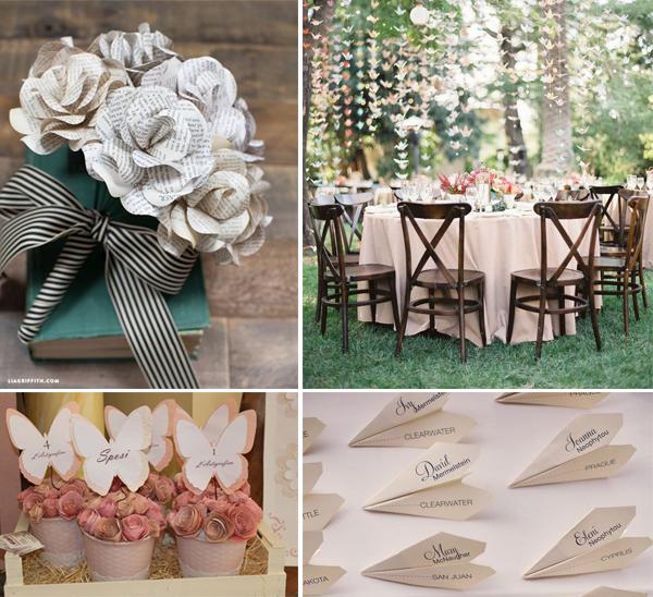 Decorazioni matrimonio carta migliore collezione - Decorazioni fiori finti ...