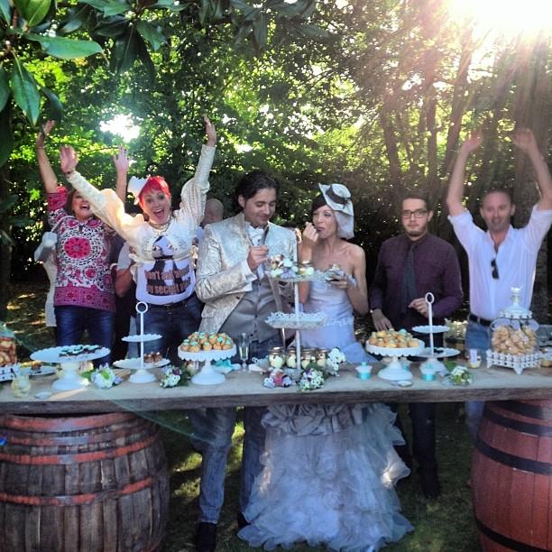 table cake matrimonio pic nic