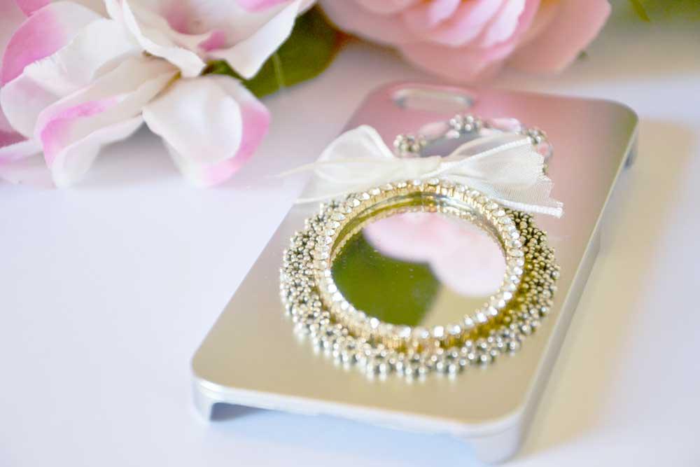 cover sposa argento con specchio per matrimonio social