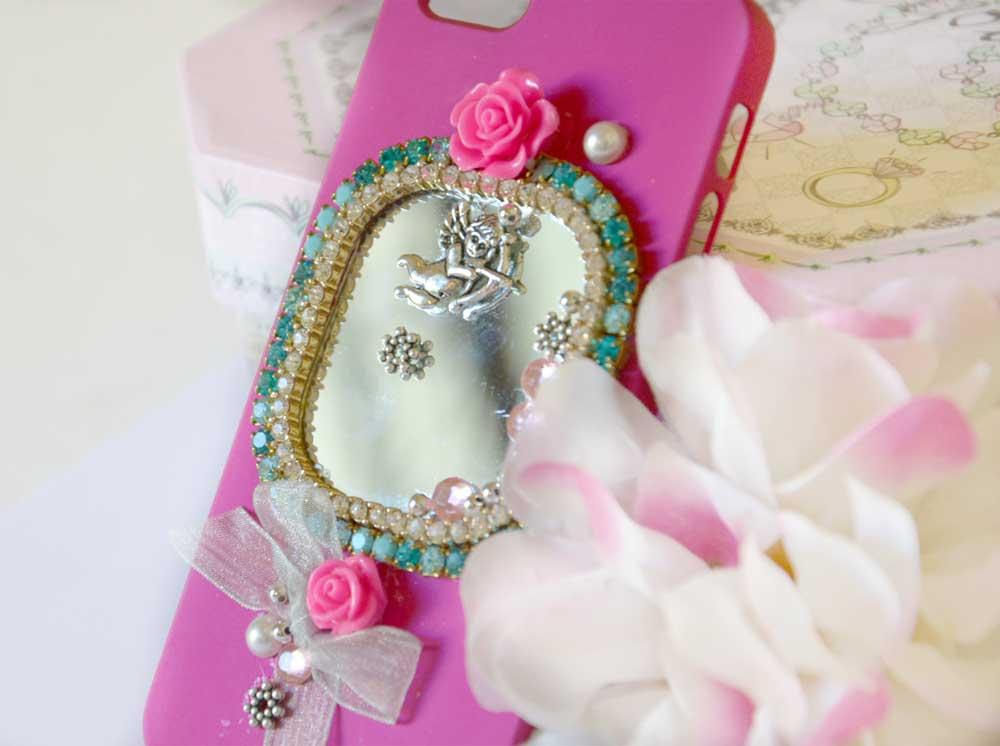 cover sposa rosa con specchio per matrimonio social