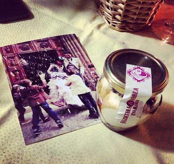 bomboniera vintage per matrimonio pic nic con battesimo