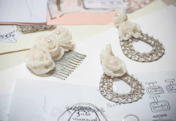 orecchini da sposa e accessori