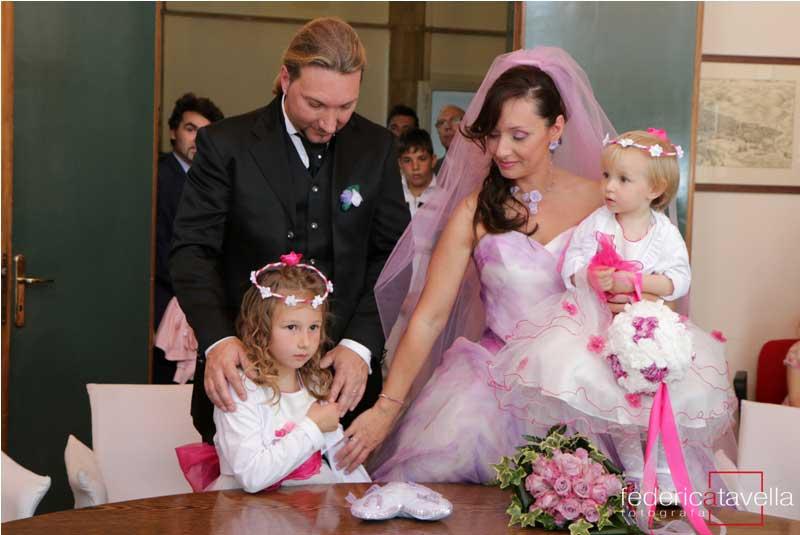 cerimonia matrimonio con figli piccoli