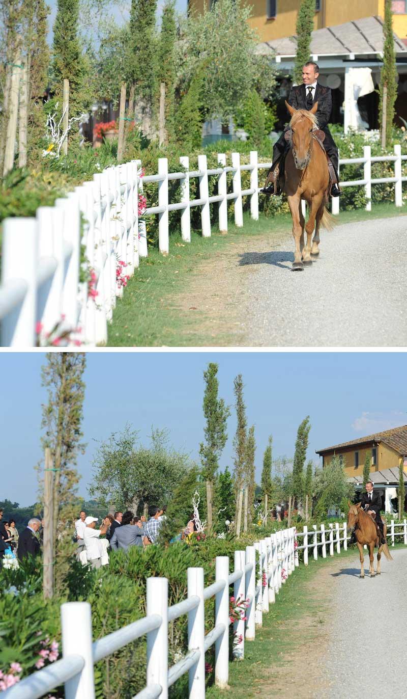 sposo a cavallo