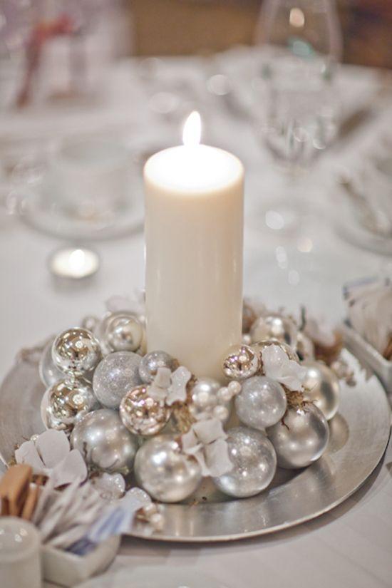 Centrotavola Natalizio Bianco E Argento.Centrotavola Matrimonio In Inverno 9 Idee Low Cost Sr Blog