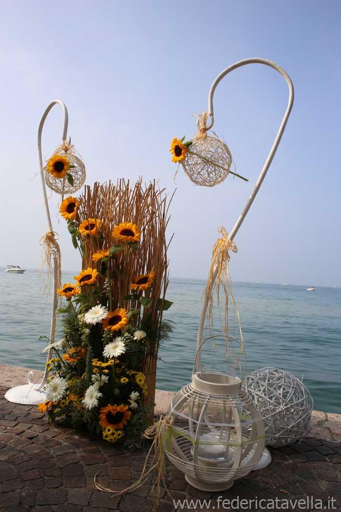 decorazioni ricevimento di matrimonio in Dogana Veneta, Lazise