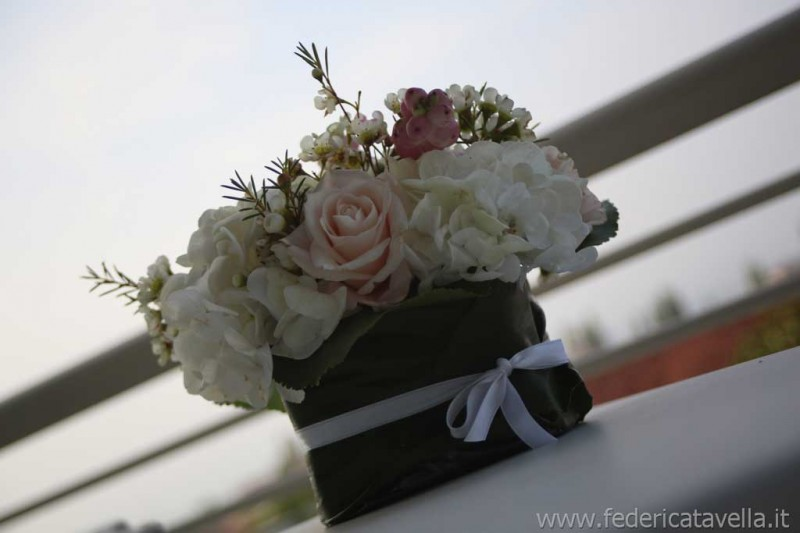 composizione floreale matrimonio