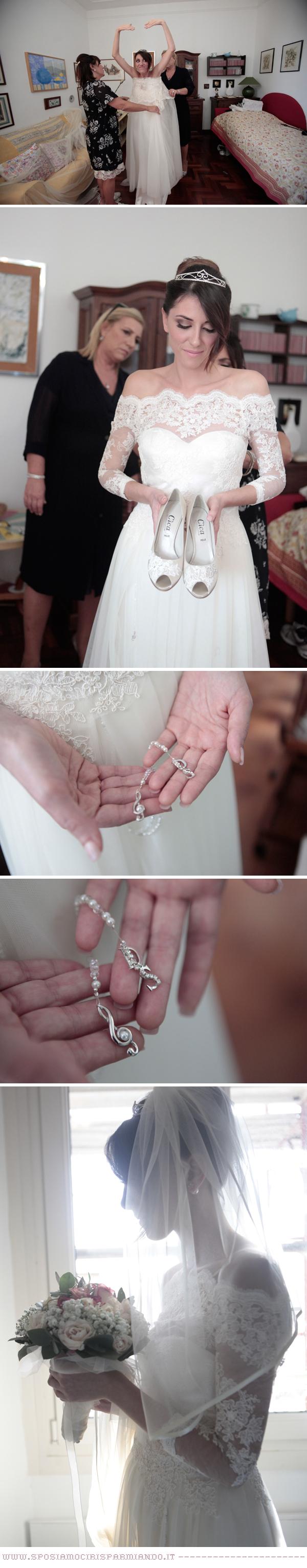 abito da sposa premaman per cerimonia religiosa e matrimonio a tema musica