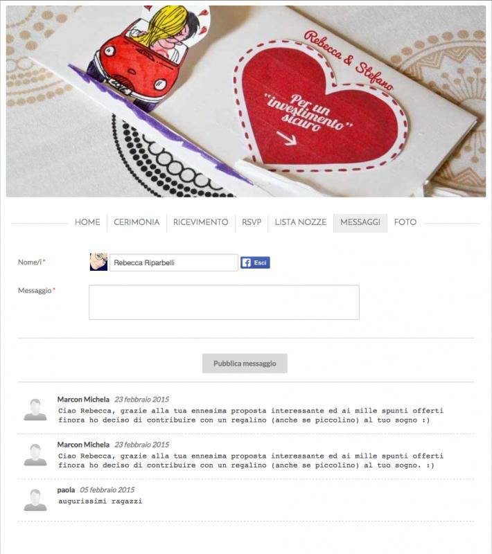 guestbook sito internet gratis matrimonio