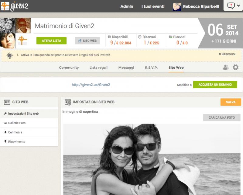 dominio sito internet di matrimonio Given2