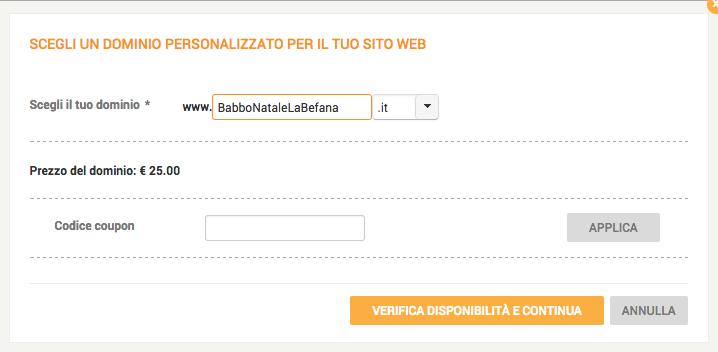 dominio secondo livello sito web Given2 del matrimonio