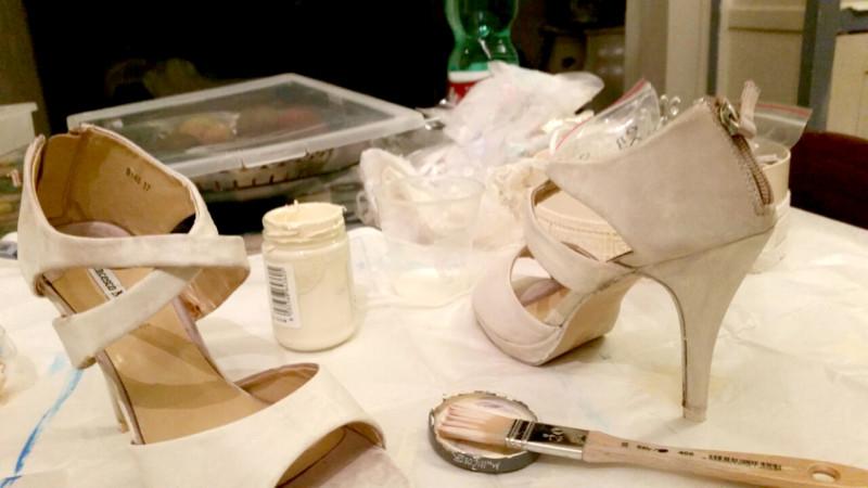 tutorial per personalizzare scarpe da sposa economiche