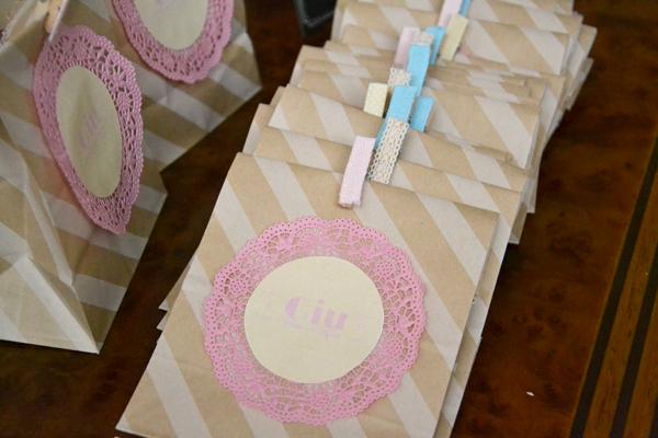 sacchetti confetti fai da te shabby chic con bustine craft
