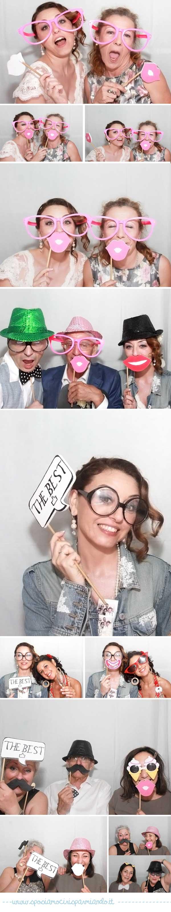strip cabina photo booth matrimonio