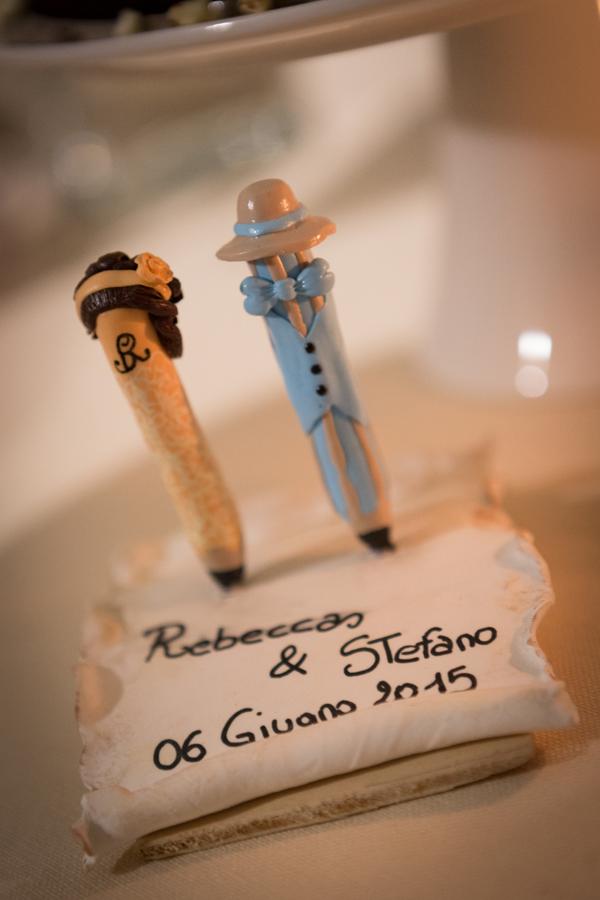 cake topper di matrimonio in pasta di fimo