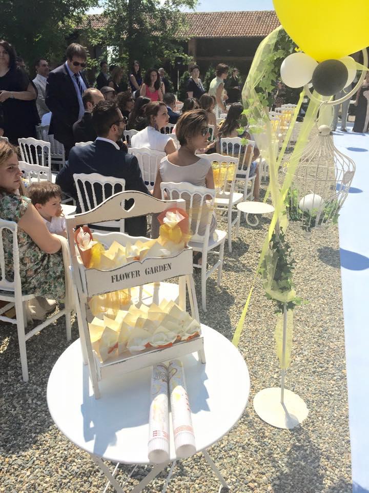 dove mettere i coni per il riso del matrimonio