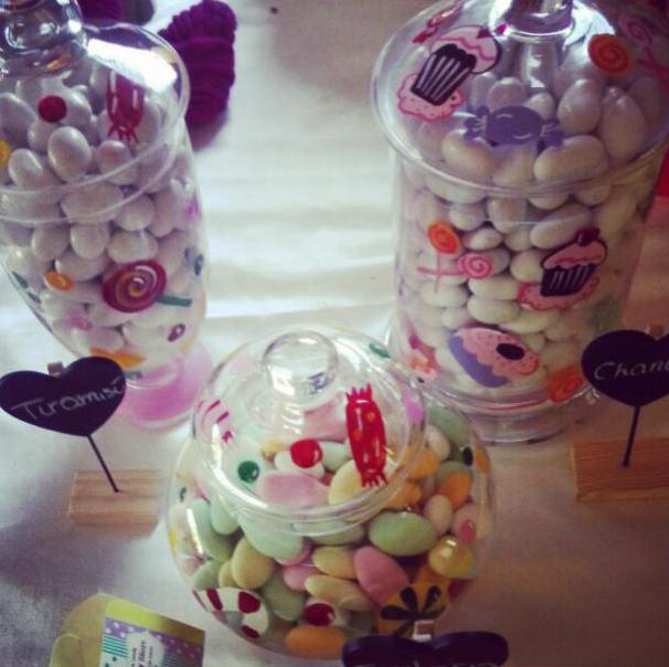 candy bar con confettata di matrimonio