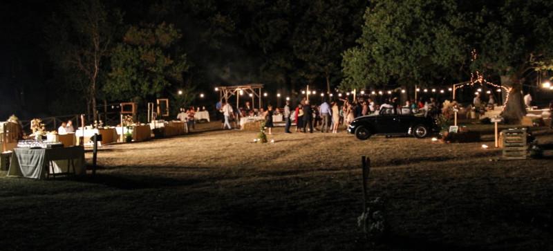 banchetto di nozze nel bosco