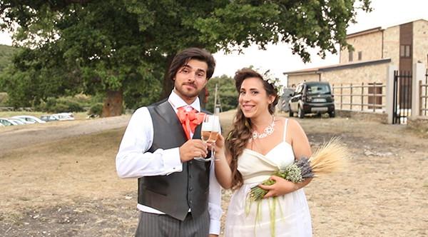 matrimonio nel bosco: brindisi