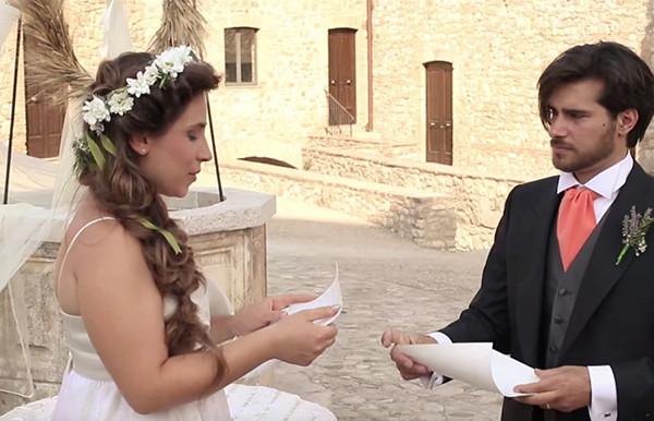 matrimonio green: lettura delle promesse
