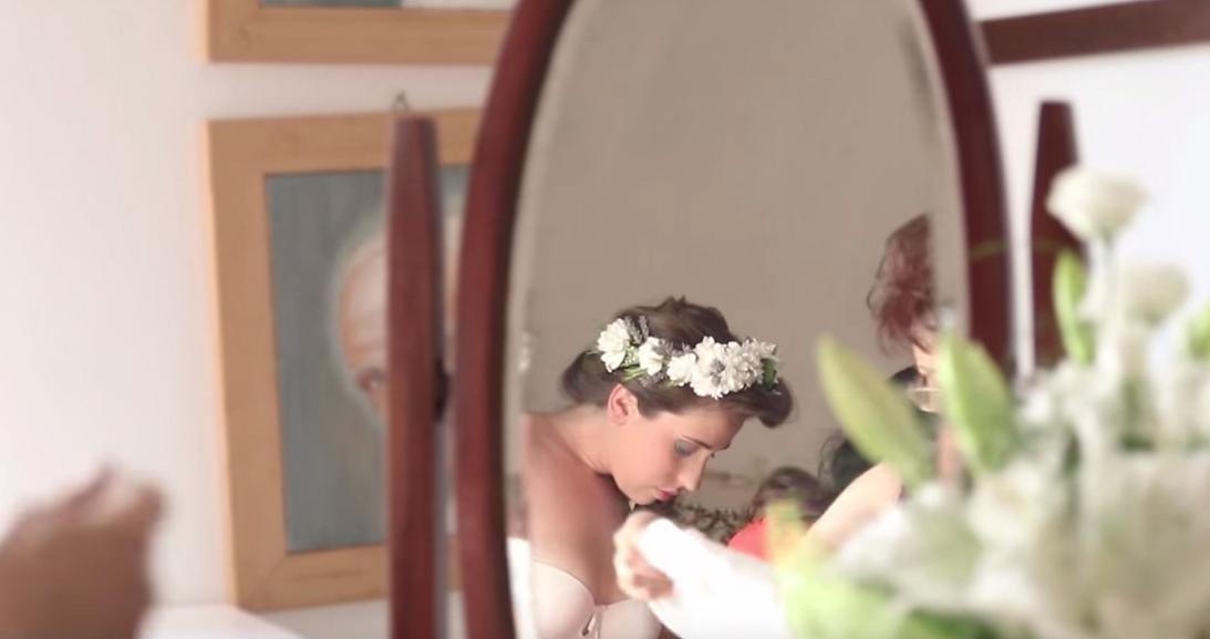 matrimonio al green vestizione sposa
