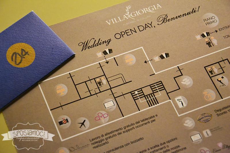 piantina Pistoia Wedding open day a Villa Giorgia