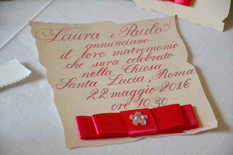 Pistoia wedding open day: partecipazioni di matrimonio scritte a mano Pro Arte