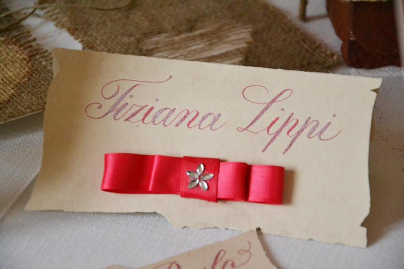Pistoia wedding open day: segnaposto scritti a mano Pro Arte